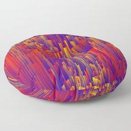 Fiery Rain - Pixel Abstract Art Floor Pillow