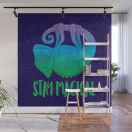 Stay Magical Levitating Chameleon Wall Mural