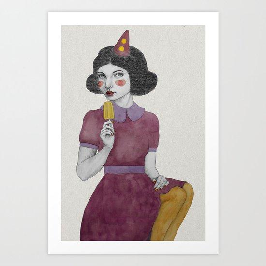 Andria dressed more colourful Art Print