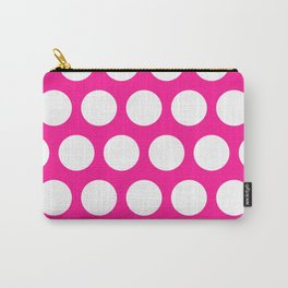 Big polka dots on deep pink Carry-All Pouch
