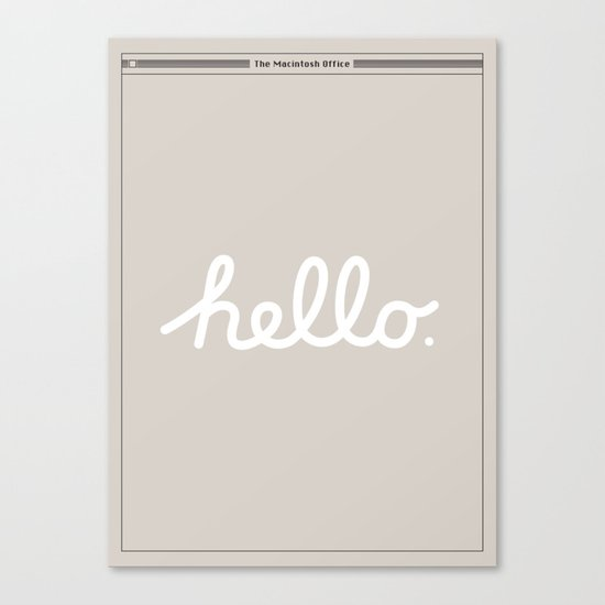 Hello: The Macintosh Office (Beige) Canvas Print