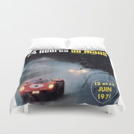 Le Mans, 24hs Le Mans 1971, vintage poster, Le mans t-shirt Duvet Cover