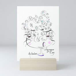 shampoo day Mini Art Print