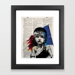 Les Miserables Poster on Dictionary Page for Liberty Framed Art Print