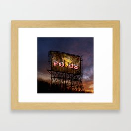 Trump Billboard Outside Blue Wave City Framed Art Print