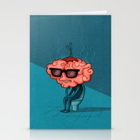 brain Stationery Cards featuring Brain by Julia Sanz