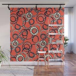 Honolulu hoopla orange Wall Mural