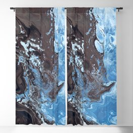 Surfing Surfer Abstract Art Waves Blackout Curtain
