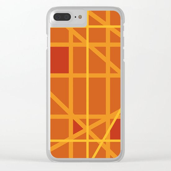 Abstract DW Clear iPhone Case