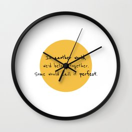 A Toast to Us Wall Clock