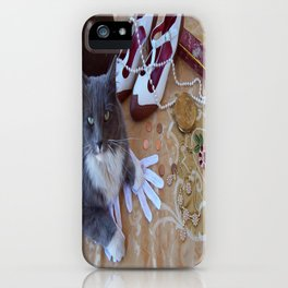 The gold digger with cat iPhone Case