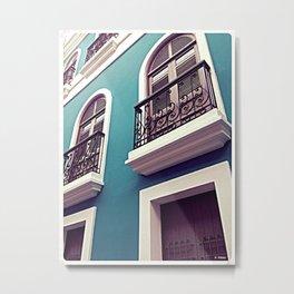 Old San Juan - Balconies Metal Print