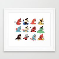 super heroes Framed Art Prints featuring Super Heroes by Ryder Doty