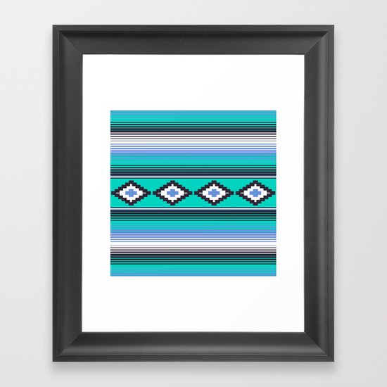 Modern Mexican Serape in Teal by beckybailey1