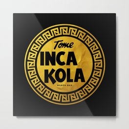 Inca Kola Gold Retro Metal Print