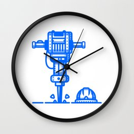 Jackhammer Wall Clock