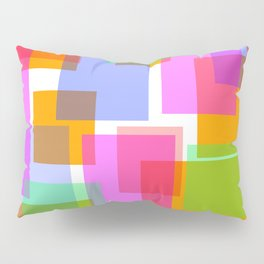Squares and Rectangles Pillow Sham