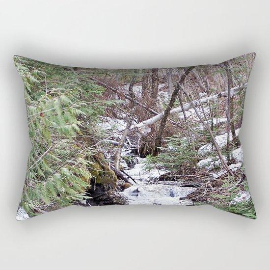 High Mountain Creek Rectangular Pillow