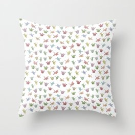 Origami Cranes Throw Pillow