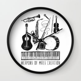 Weapons Of Mass Creation - Music Wall Clock