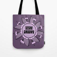 Stay Groovy Boho Mandala Tote Bag
