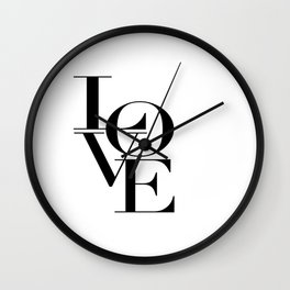 LOVE IS SWEET, Love Sign,Love Art,Wedding Decor,Anniversary Quote,Love Symbol,Love you more Wall Clock