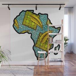 Green Blue Africa Map Wall Mural