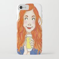 amy pond iPhone & iPod Cases featuring Amy Pond Lemonade by Lena Lang