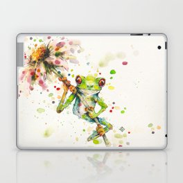 Hello There Bright Eyes (Green Tree Frog) Laptop & iPad Skin