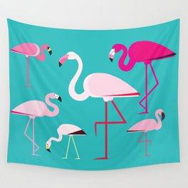 Flamingos Wall Tapestry