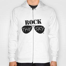 Rock the Sky Aviator Glasses Logo Hoody