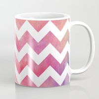 Watercolor Chevron. Mug