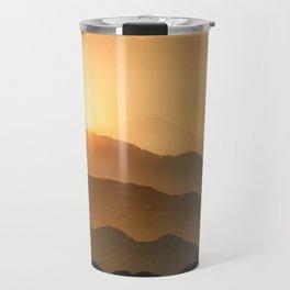 Sunrise in the mountains - beautiful morning - #Society6 #buyart Travel Mug