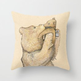 Bear Smooches Throw Pillow