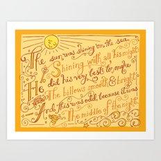 The Walrus and the Carpenter, Stanza 1 Art Print