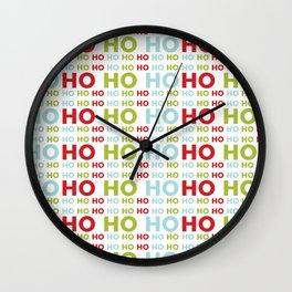 Ho Ho Ho Merry Christmas Wall Clock