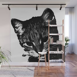 An injured cat walks your way, what do you do? Wall Mural