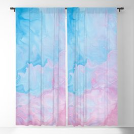 Blue Pink Marble Blackout Curtain