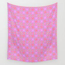 Pastel Broken Diamond Swirl Pattern Wall Tapestry