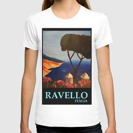 Ravello Salerno Italy View Of Amalfi Coast From Villa Rufolo T-shirt