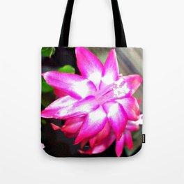 Pink Christmas Cactus Bud Tote Bag