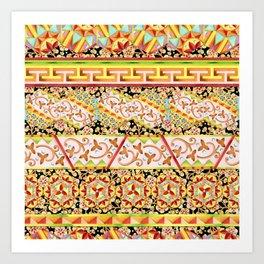 Gypsy Caravan Luxe Stripe Art Print