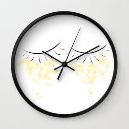 Glittered Eyes Wall Clock