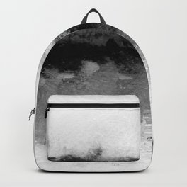 grayscale abstract painting Backpack