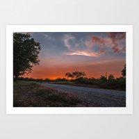 The road west Art Print