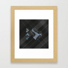 trple per mnml srf_001 Framed Art Print