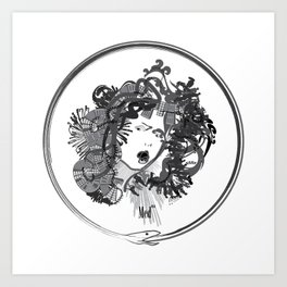 Med-usa with seal Art Print