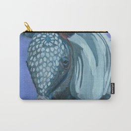 Baby Armadillo Portrait Painting Carry-All Pouch