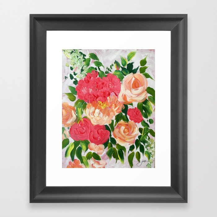 Flower Therapy Framed Art Print