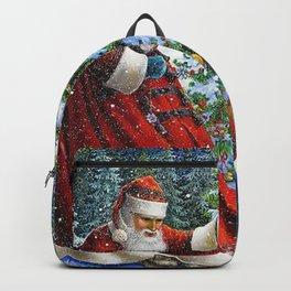 Holiday Christmas Santa Cat Dog Christmas Tree Backpack